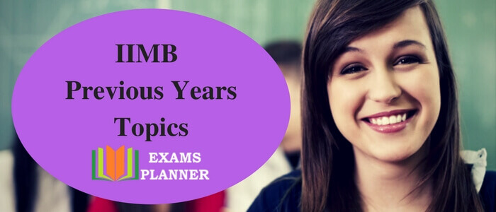 IIMB Previous Year Topics
