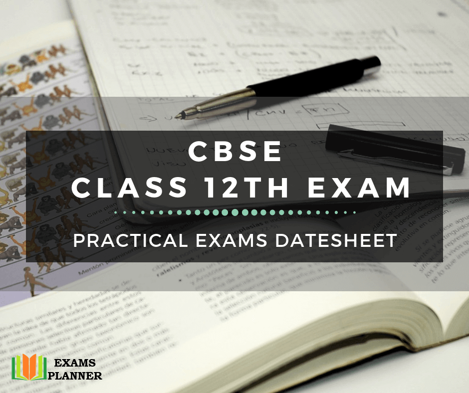 Class 12th Practical Datesheet