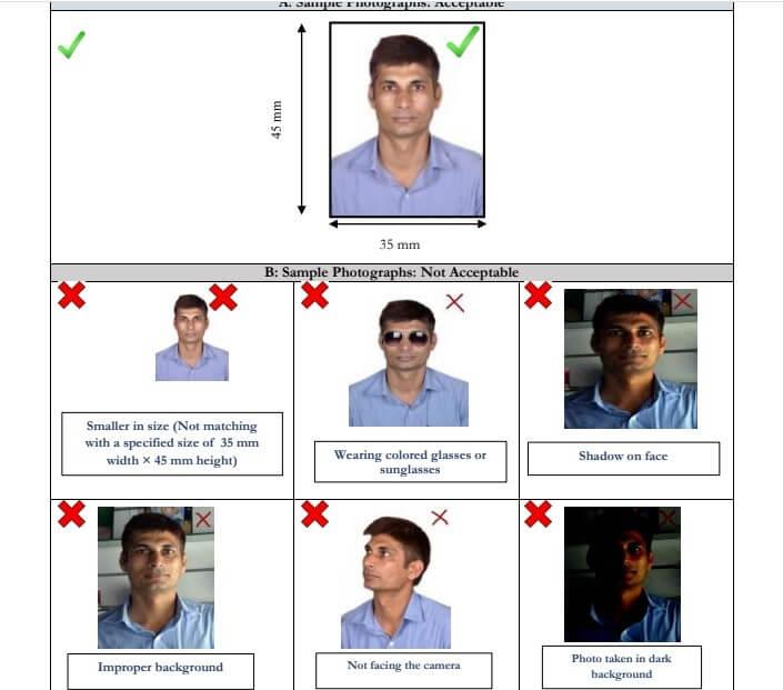 GATE Application Photo Format