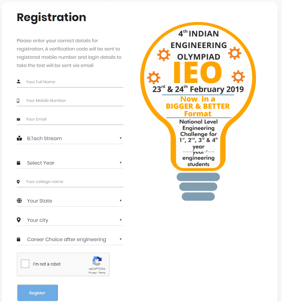 IEO Registration Form 2019