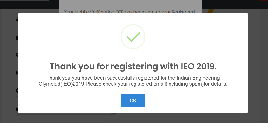 IEO Registration Successful