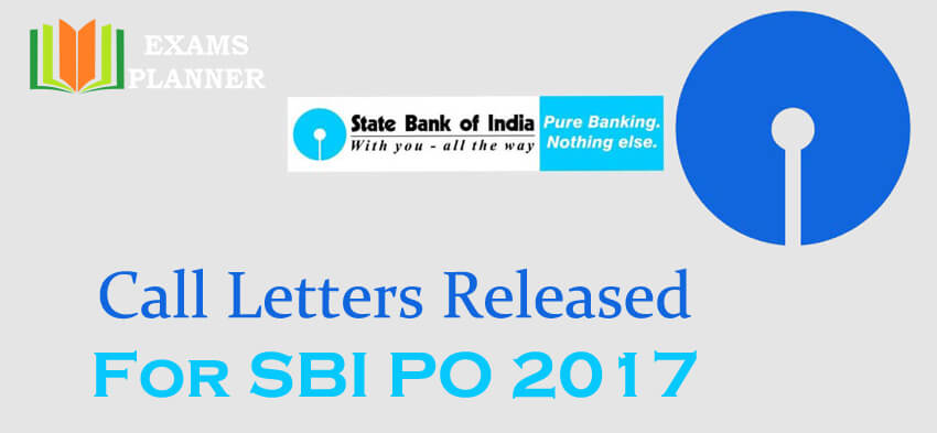 SBI PO Exam Call Letter