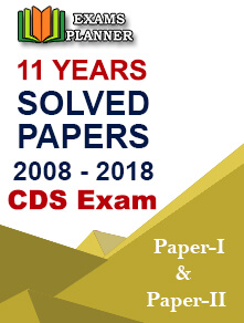 CDS Exam Solved Paper 11 Years