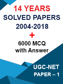 UGC NET 14 Years Previous Solved Papers + 6000 MCQ Combo