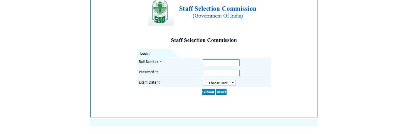 SSC CHSL Website